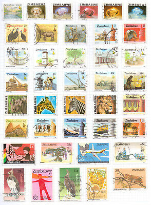 ZIMBABWE Album page of Mint/Used Stamps (M441)