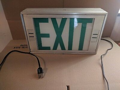 Vintage Exit Sign Plug in Converted