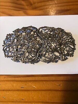 Heavy Solid Silver Nurses Belt Buckle Low Start Price No Reserve Free P&p