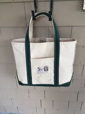 L.l. Bean - Boat & Tote Bag - Embroidered Shih Tzu Dog - Super Cute
