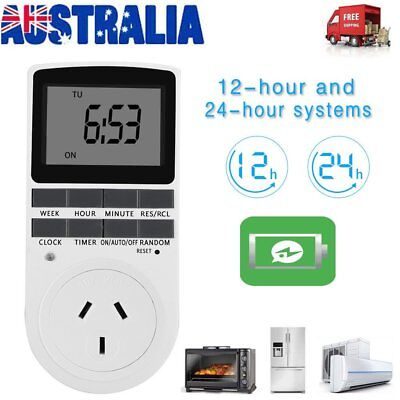 Digital Timer Switch Socket 240V Automation Electric Programmable Powerpoint AB