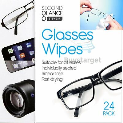 👓New 24 X Glasses Cleaner Wipes Cloth All Lenses Spectacle Lens Camera Cleaning