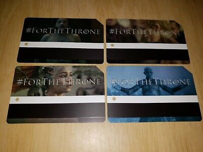 Game Of Thrones Metrocard Full Set Of Four Limited Edition Last Season HBO GOT
