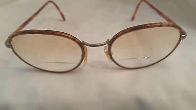 Vintage Gucci gg1312  Round Frame red Tortoise Thin  Eyeglasses 53-19-140
