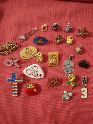 Junk Drawer Clean Out Pins Charms Lapel Tie