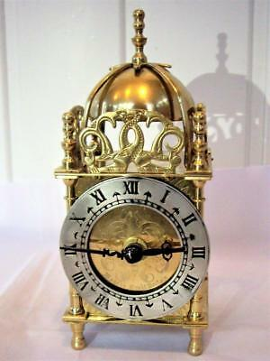Vintage Brass English Lantern Clock - Restored