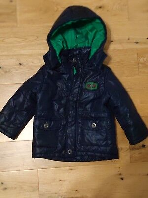 Boys Coat Navy Blue Age 2 years Hardly Worn