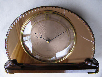 Smiths Swinton Model 8 Day Mirror Faced Mantel Clock 1950 Perfect Working Order