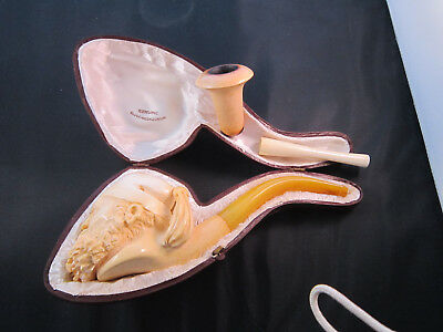 Meerschaum pipe with smoking bowl
