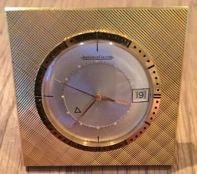 Vintage JAEGER LECOULTRE 'Memovox' alarm clock. Mechanical wind up. Good Cond.