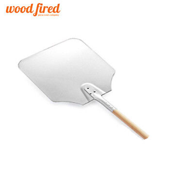 """26"""" pizza peel 12"""" x 14"""" Aluminium head with wooden handle (wood fired oven)"""