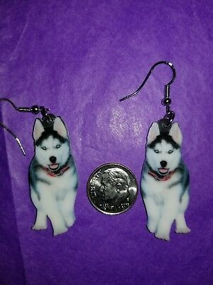 Siberian Husky Dog lightweight earrings  jewelry FREE SHIPPING