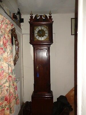 JAMES GREEN of Nantwich 1750 BRASS DIAL  8 DAY GRANDFATHER  CLOCK