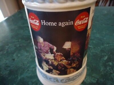 "Vintage Collectible Coca-Cola Stein Mug with COA Certificate GERZ  "" Home Again"""