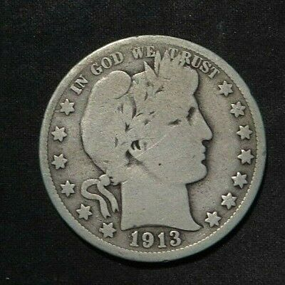 1913-P Barber Half Dollar 50¢- Good