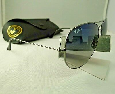 00bcccf168e Ray-Ban Rb3025 004 78 Gunmetal Gradient Polarized Aviator Sunglasses 62Mm  9.5