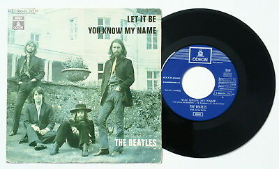 Single ☆ THE BEATLES ☆ Let it be + You know my name (EMI Odeon, 1970) SPAIN 45