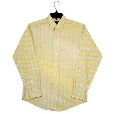Brooks Brothers Mens Large Button Down Dress Shirt Non Iron Supima Cotton Yellow