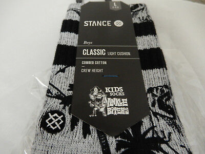 NWT  Stance Kid's Ankle Biters, Lg  Sz 2- 5.5   DINOSAUR  Socks,  FREE Shipping