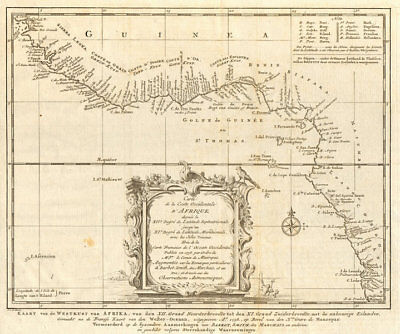'Côte Occidentale d'Afrique…' West Africa. Gulf of Guinea BELLIN/SCHLEY 1747 map