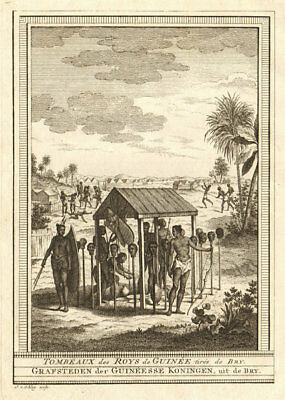 West Africa. Tombs of the Kings of Guinea, taken from Bry. SCHLEY 1748 print