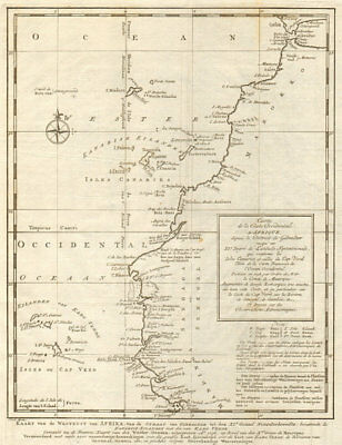 'Côte Occidentale d'Afrique…' NW Africa Madeira Canaries. BELLIN/SCHLEY 1747 map