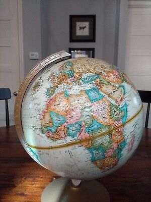 """Vintage Replogle World Globe 12"""" World Classic Series with raised relief"""