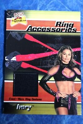 Ivory WWF WWE Fleer Authentic Shirt Relic Trading Card