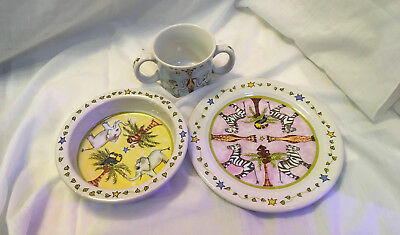 Essex Kids Children's Set:  Plate ~ Bowl ~ 2 Handled Mug!