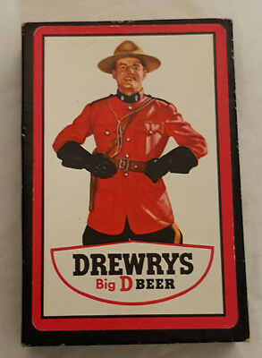 Vintage Drewrys Beer Big D Canadian Mountie Playing Cards