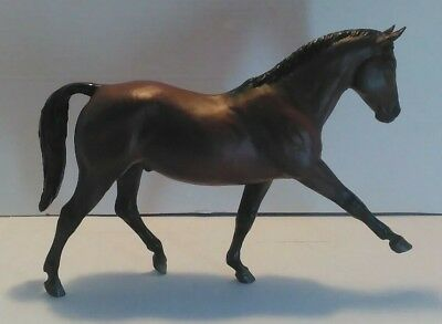"""Brown Horse Figurine,hard Plastic, Exceptional Detail,11-1/2"""" Long & 8-1/2"""" Tall"""