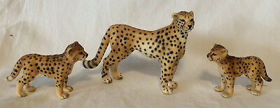 Schleich Female CHEETAH MOM & 2 CUBS Baby - Big Cats Animal Figures Retired!