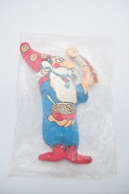 VTG 1970'S COOKIE CRISP CEREAL WIZARD PLUSH General Mills PILLOW DOLL NEW