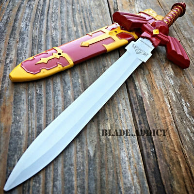 "12"" Red Legend of Zelda Hylian Hyrule Ocarina of Time Master Sword Short Dagger"
