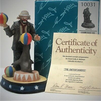 Flambro Miniature Emmett Kelly Jr **THE ENTERTAINERS** Signature Collection