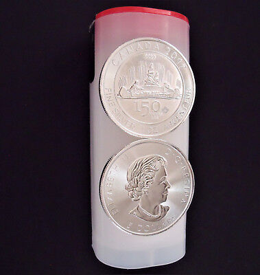 Roll Of 25 - 2017 Canadian 1 oz .9999 Silver 150th Anniversary $5 Voyageur Coin