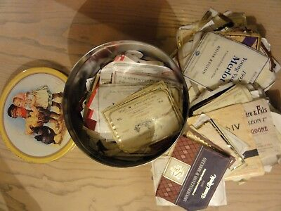Biscuit tin of wine, spirits and cheese labels Lot 3