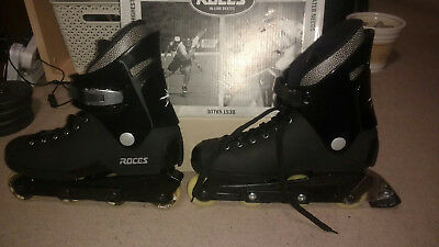 Roces Aggresive Roller Skates Size 12 UK Black with set of guards