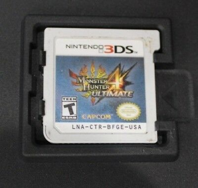 Monster Hunter 4 Ultimate (Nintendo 3DS, 2015) GAME CARTRIDGE ONLY ~TESTED~