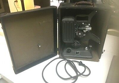 Keystone Model R-8 8MM Vintage Projector with original case WORKING EC