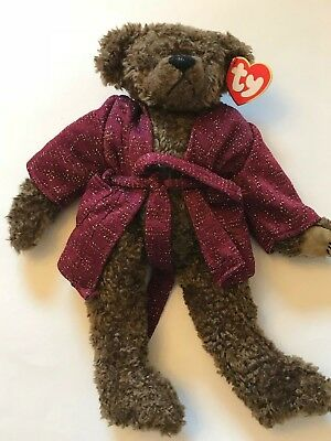 "TY Beanie Babies Retired 1993 Jointed ""Tyrone"" BROWN TEDDY BEAR  12"" Tall"