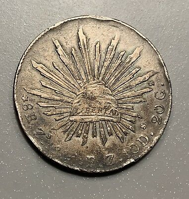 1888 Mexico Zs FZ 8 Reales VF Details