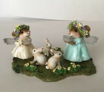 Wee Forest Folk ~ONE OF A KIND*~ OOAK~ FAIRIES FEEDING THE BUNNIES Special Event