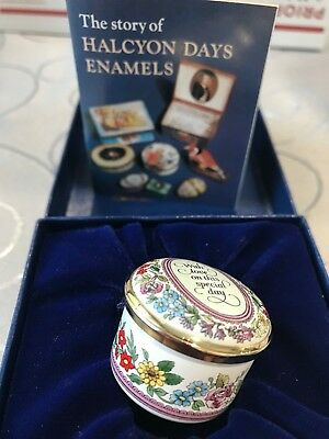 Halcyon Days Enamels Trinket Box WITH LOVE ON THIS SPECIAL DAY