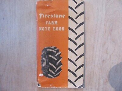 Old Farm Notebook Firestone Groves Tractor Co. Cape Girardeau Missouri 1951