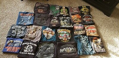 HUGE LOT Harley Davidson and Motorcycle T-Shirts 2XL. XXL