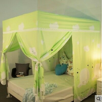 Double Cartoon Floor Type Dust Prevention Bed Canopy Mosquito Net Bed Curtain