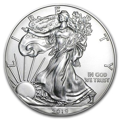 2019 1 oz Silver American Eagle - Brilliant Uncirculated Coin .999 1oz. BU