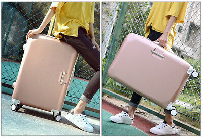 E904 Rose Gold Lock ABS Universal Wheel Travel Suitcase Luggage 24 Inches W