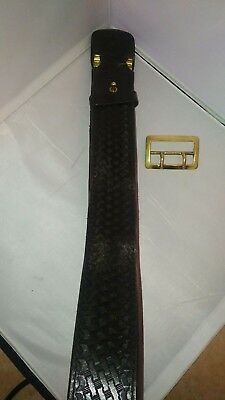 Basketweave Duty Belt size 38